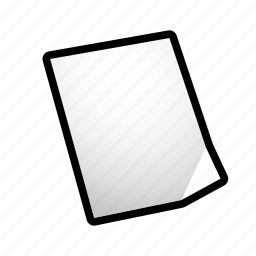 data, empty, file, new, paper icon