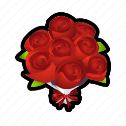flower, gift, present, roses icon