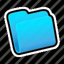 blue, closed, folder