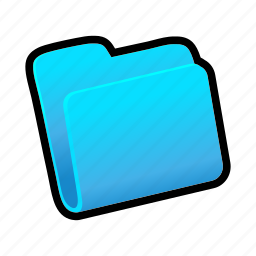 blue, closed, folder icon