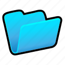 blue, folder, open