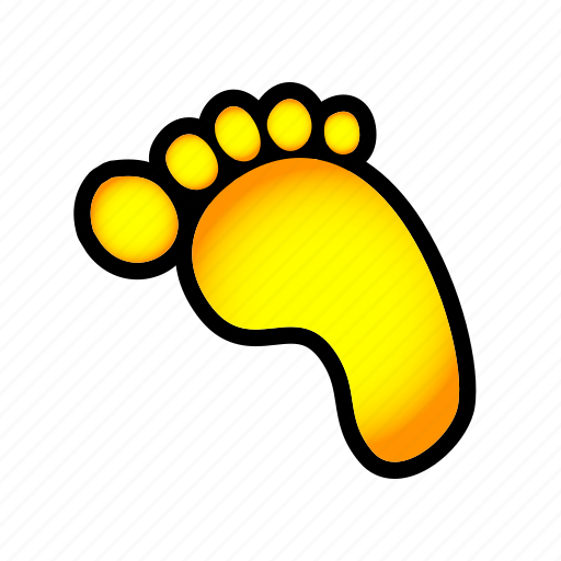 foot, step, trace, track icon