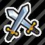 combat, enemy, fight, game, sword icon