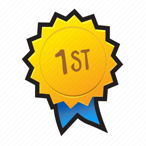 award, first, game, gold, medal, podium, win icon