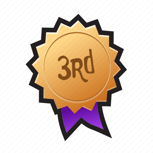 award, bronze, game, medal, podium, third, win icon