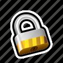 locked, padlock, safe, security icon