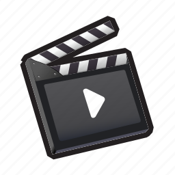 clacket, media, movie, play, record, video icon