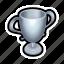 leaderboards, podium, score, second, silver, win, winner icon