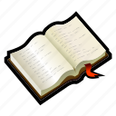 book, learn, open, read, student, study, tutorial icon