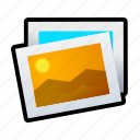 landscape, photo, picture, sun icon