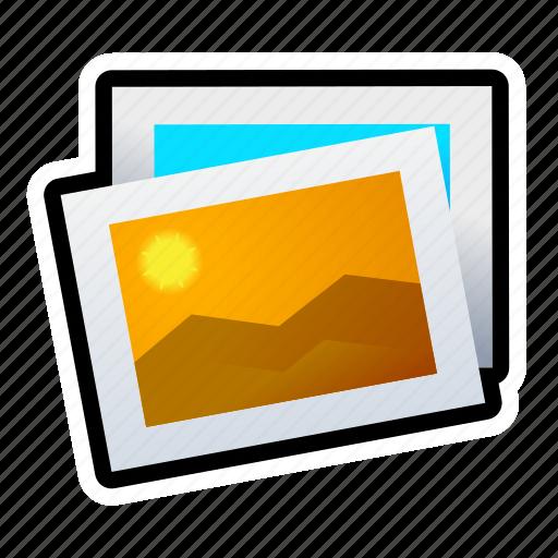 landscape, photo, picture, sun icon