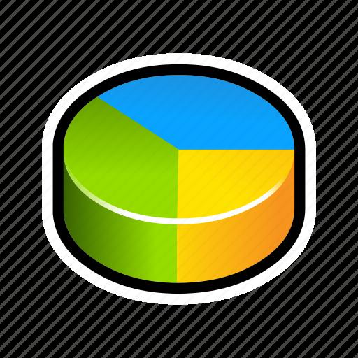 chart, pie, sheet, spread, statistics icon