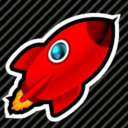 alien, et, launch, moon, rocket, space icon