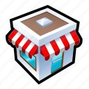 about, buy, front, house, products, sell, store icon