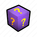 box, gift, mark, present, question, surprise icon