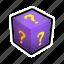 box, gift, mark, present, question, surprise icon