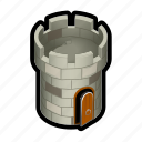 castle, defense, medieval, perch, sniper, tower icon