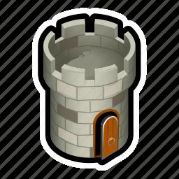 castle, defense, medieval, perch, sniper, tower icon