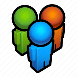 chat, forum, group, people, users icon