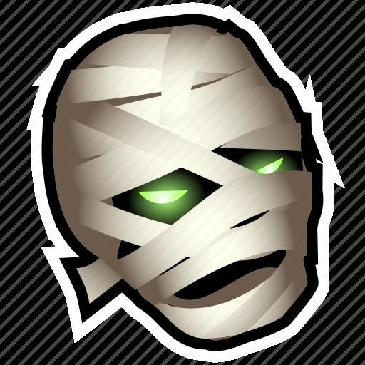 dead, halloween, monster, mummy, undead, zombie icon