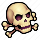 bones, dead, monster, skull, undead icon