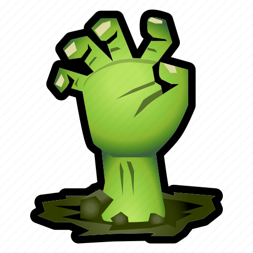 evil, halloween, hand, monster, undead, zombie icon