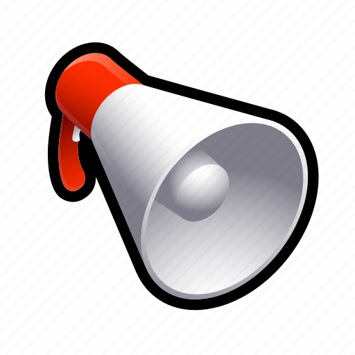 loud, megaphone, music, promote, screm icon