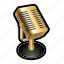 microphone, music, podcast, radio, record, sing icon