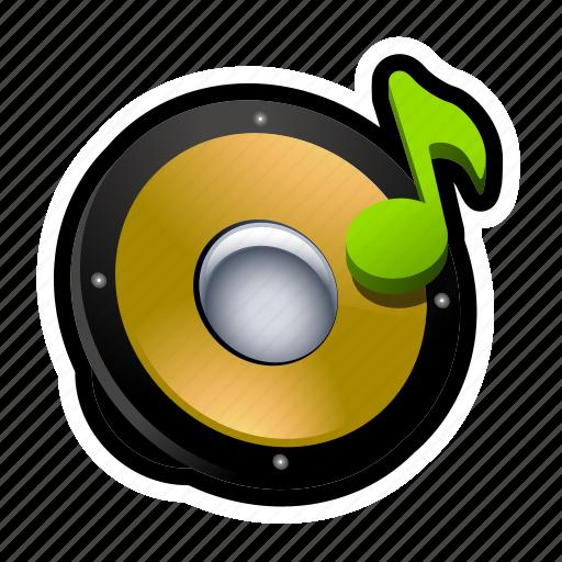 music, note, sfx, sound, speaker icon