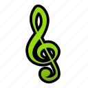 clef, music, note, song, sound, treble icon