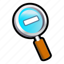 magnify, out, pointer, zoom icon