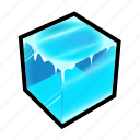 cube, frozen, ice, powerups icon