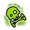 death, poison, powerups, toxic icon