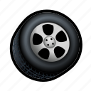 car, race, tire, wheel icon