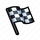 end, win, winner, drive, flag, race