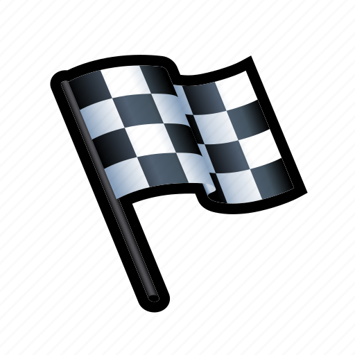 drive, end, flag, race, win, winner icon