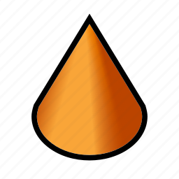 cone, geometry, model, shapes icon