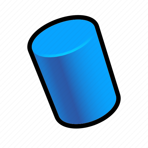 cylinder, geometry, model, shapes icon