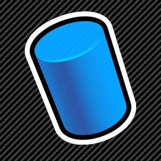 cylinder, geometry, model, shapes icon