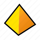 geometry, model, pyramid, shapes icon