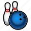 ball, bowling, game, pins, sports icon