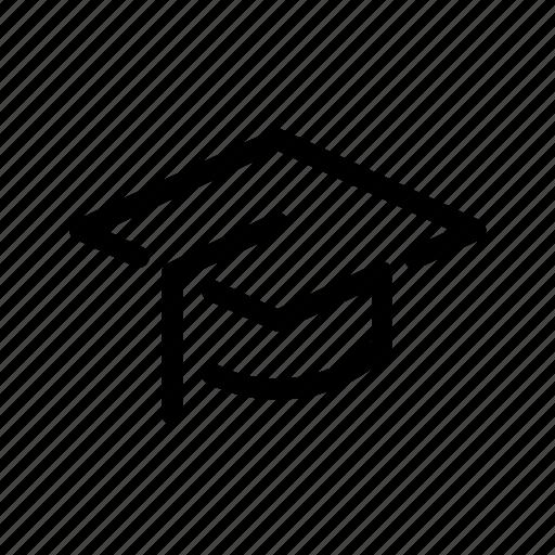 cap, course, education, graduation, scholarship, school, student icon