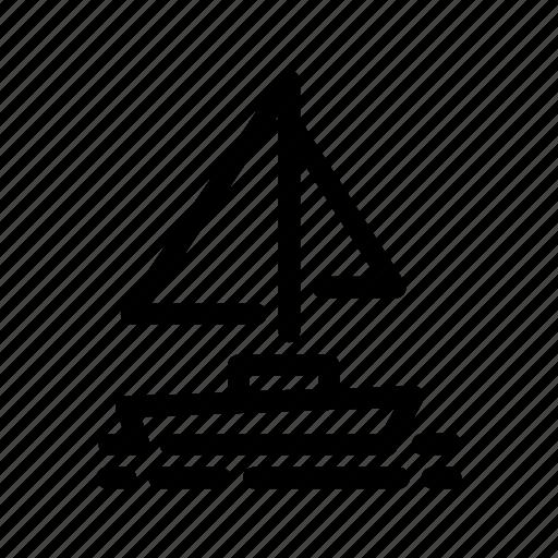boat, sail, sailboat, sailing, sails, sea, travel icon