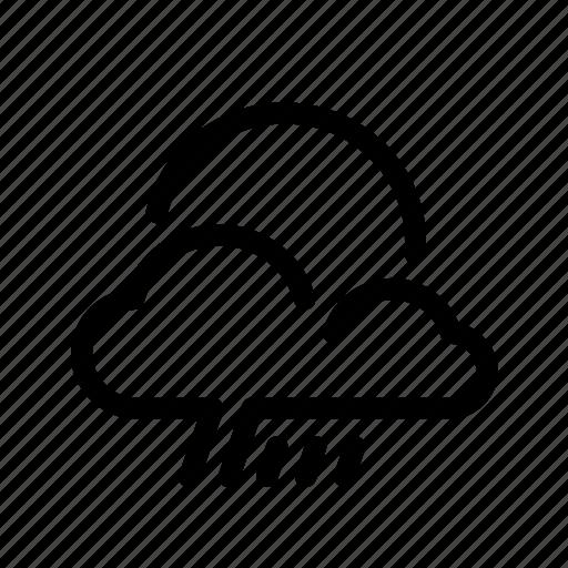 cloudy, fall, forecast, monsoon, rain, rainy, weather icon