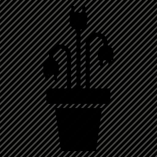 clean, energy, green, plant, renewable, sustainable, vase icon
