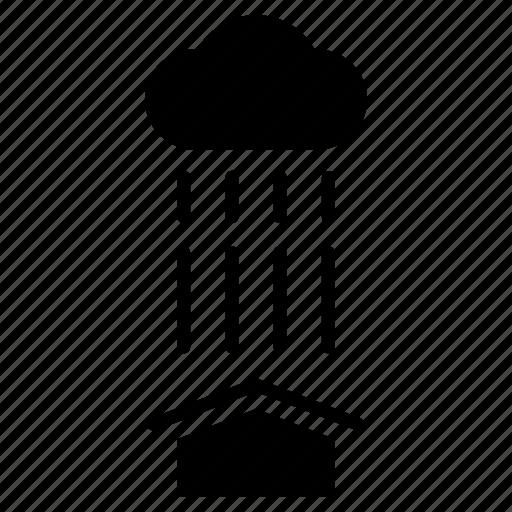 fall, housing, protection, rain, rainy, roof, waterproof icon