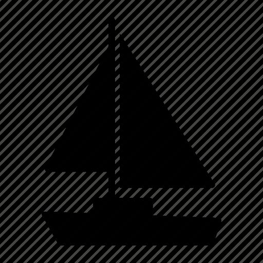 bateau, boat, sail, sailboat, sailing, sea, travelling icon
