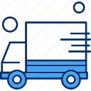 delivery, shipping, van icon