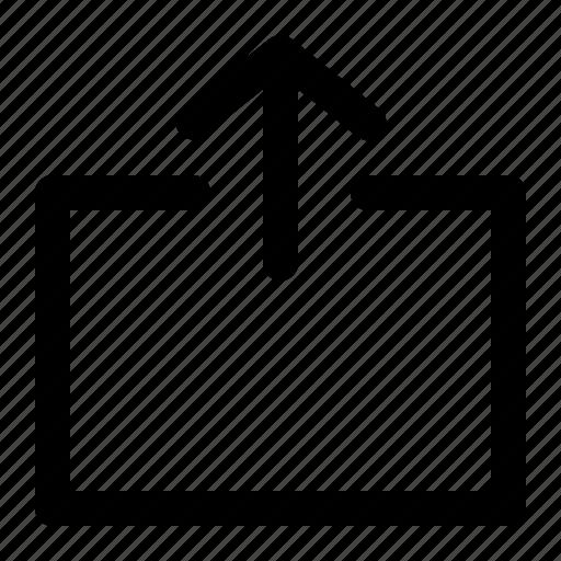 arrow, export, upload, uploading, upward icon