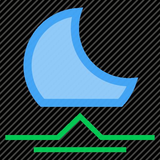 forecast, moon, moonrise, night, up, weather icon